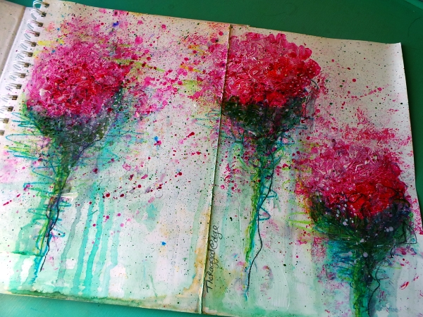 Splatter flowers Life Book 2014