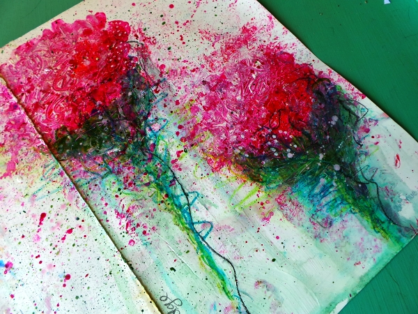 Splattered paint roses Life Book 2014